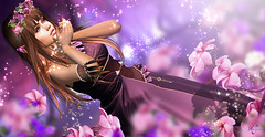 Purple Fae (meriluu17) Tags: fae fairy purple elf elven sparkle flower rose outdoor people girl magic magical fantasy surreal violet sweet kajira