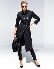 Big Button Trench (betrenchcoated) Tags: trenchcoat raincoat regenmantel regenjacke buttons doublebreasted beautifulgirl black