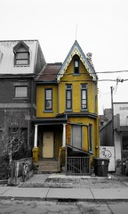 Narrow yellow (siong.lewis) Tags: house architecture building yellow urbanphotography urban streetscape cityscape toronto