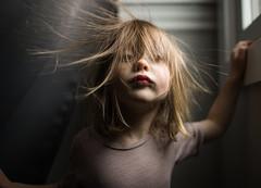 10| 365 (trois petits oiseaux) Tags: static winter 365 hair funny portrait kids