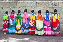 Colours, Oaxaca (Geraint Rowland Photography) Tags: colours mexicans women traditionalmexicanclothing textiles hair plattedhair ribbons colourful indigenouswomenmexico geraintrowlandphotography oaxaca oaxacacity visitmexico latinamerica wedding celebration weddingdancers canon 50mm 5d2 travelphotography basilicaladyofoursolitude