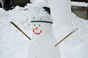 Hello, cold weather (ctberney) Tags: winter snowperson smile neighborhood outdoors