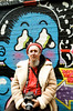 A HA (Georgie_grrl) Tags: torontophotowalks social photographers friends outing topw2017rs graffitialley graffiti streetart expression creative colourful andrew friend pentaxk1000 rikenon12828mm posing model eyes grrl funny arrows aha wall