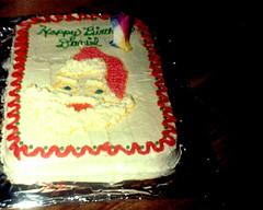 Happy Birthday, Daniel (Midnight Believer) Tags: birthdaycake birthday cake sweets lostphoto retro 1990s santaclaus celebration