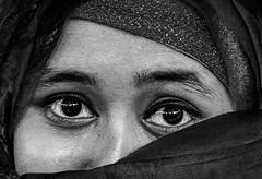 The eyes (Aranya Ehsan) Tags: people portrait bangladesh hijab aranya 2017 blackandwhite black eye face girl