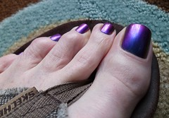 ILNPO - Bireferengence (toepaintguy) Tags: male guy men man masculine boy nail nails fingernail fingernails toenail toenails toe foot feet pedi pedicure sandal sandals polish lacquer gloss glossy shine shiny sexy fun daring allure gorgeous ilnp birefrengence purple violet red gold pink teal green blue holo chameleon colorchanger