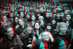 New York, New York (DDDavid Hazan) Tags: studentprotest students crowd nobanbowall foleysquare cityhall stereo3d stereophotography redcyan3d redcyan 3dstereophotography 3danglyph bwanaglyph blackandwhite bw 3d anaglyph ny newyork nyc manhattan immigrationbanrally rally protest demonstration protestors antitrump immigration depth people