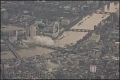 River Thames & The London Eye (elevationair ✈) Tags: london lhr egll england unitedkingdon uk aerialview europe thames riverthames river bigwheel eye londoneye stack holdingstack bovingdon bovingdonhold approachtoheathrowairport londonfromaplanewindow