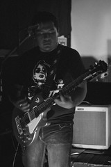Zoma (Anne Vz) Tags: rock alternative music musica musician photography bn black white bnw guitar drums bass zoma lzc mexico morelia band banda 50mm canon playing jennyfer bluered vazquez