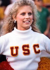 USC Football Cheerleader (Schoonmaker III) Tags: blonde usc usctrojans usccheer usccheerleader cheerleader cheer cheerleaders ncaafootball circa1982 filmphotography scannedphoto collegefootball fighton nikon