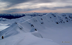 Skiing the Crater of Volcan Puyehue