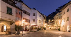 Neumarkt (michael_rizzi) Tags: city town cityscape blue hour light stars sky historic old buildings architecture alley winter christmas lights fountain church arches long exposure wide angle italy south tyrol neumarkt egna village