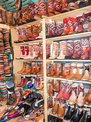 Leather Shoes (djcotto1971) Tags: morocco northern africa fes unesco heritage colors old city medina boots shoes slippers leather handcraft olympus sz30mr