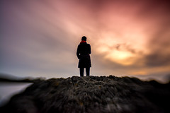 Woman Silhouette (Manuela Durson) Tags: lensbaby blur blurred blurry landscape woman people dramatic sunset