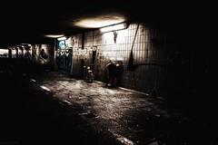 Unterführung... (hobbit68) Tags: frankfurt fechenheim unterführung light beleuchtung graffiti bike