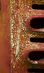 Abstract (StephenReed) Tags: abstract art abstractart metal rust paint chippedpaint grill mold craquelure nikond3300 stephenreed