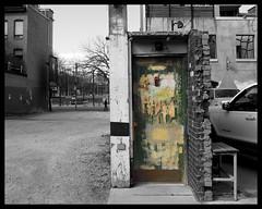 Nowhere Door (Sally E J Hunter) Tags: toronto decay urban door selectivecolour britainstreet surreal