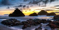 Face Rock  Beach (Manuela Durson) Tags: bandon beach oregon coast southernoregon cliffs water sea ocean sunset rocks beautiful landscape nature