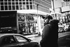 Scene From a Movie (Stories from the Streets) Tags: streetphotography street candid fujifilm xpro2 35mm cooltones blackwhite bw glasses earpiece toronto canada queenst movie cinematic