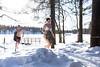 woman and man running in swimsuit after ice swimming (VisitLakeland) Tags: rauhalahti finland kuopio winter jätkänkämppä ice swim smimming talvi snow avantouinti uinti swimsuit bikini woman man mies nainen