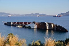 Mediterranean Sky shipwreck (Chris Maroulakis) Tags: shipwreck mediterranean karagiorgis lines patras italy elefsina eleusis sea nikond7000 chris maroulakis 2015 sky