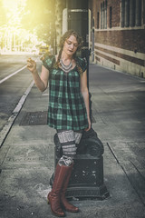 Bad Girls Wear Plaid (Luv Duck - Thanks for 12M Views!) Tags: approved ramona brunette seattlegirls girlswearingplaid greenplaid streetsofseattle modeling ponytails downtownseattle