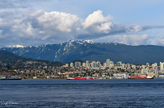 North Vancouver/ North Shore (SonjaPetersonPh♡tography) Tags: vancouver bc canada waterfront downtownvancouver skyline landscape waterscape britishcolumbia nikond5300 nikon scenery scenic viewpoint stanleypark stanleyparkseawall city cityscape northvancouver northshore northshoremountains mountains coastalmountains mountainlandscape clouds sky bluesky