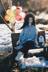 hello spring V (AzureFantoccini) Tags: zaoll luv bjd doll abjd balljointeddoll balloon spring snow wind girl april portrait sun outdoor dollmore