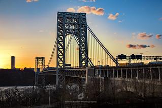The George Washington Bridge at Sunset