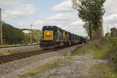 CSX X801-07 at Wyvern Yard (travisnewman100) Tags: csx train freight railroad manifest out service extra emd sd403 sd503 wyvern yard etowah subdivision atlanta division x801