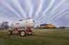 Strange Clouds Over Farm Country (WillJordanPhoto) Tags: trains travel indiana malden grain elevator switcher atsf santafe