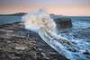 Waves over The Cobb (Martin Norden) Tags: aprilsunshine beach boats fossils lymeregis splash standingstones thecobb waves