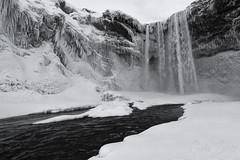 Skogafoss B&W (GorkaZarate) Tags: skogafoss islandia iceland water waterfall cascada agua ice hielo nieve snow nikon alavavision