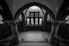 (PiotrTrojanowski) Tags: torun staircase stairs window light black white bw monochrome interior architecture umk uniwersytet mikolaja kopernika w toruniu arch column floor