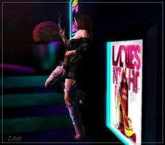Gotta stay high 2 forget I'm missing you (MissZafire) Tags: secondlife sl smoke smoking drinking bottle pose avatar virtual club breakup heartbreak thinking memories