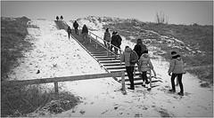 Montée de la dune vers la plage, De Banjaard, Kamperland, Noord-Beveland, Zeelande, Nederland (claude lina) Tags: claudelina nederland hollande paysbas zeelande zeeland merdunord noordzee plage dune beach debanjaard kamperland noordbeveland escalier stair