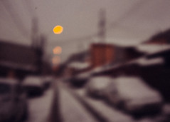 Faranume (Alex Cruceru) Tags: blurry city cold cruceru dead314xel defocus far finepix fujifilm houses lights road snow winter x100s