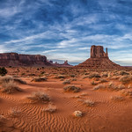 West Mitten butte in Monument Valley Navajo Tribal Park, Arizona thumbnail