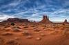 West Mitten butte in Monument Valley Navajo Tribal Park, Arizona (diana_robinson) Tags: abigfave westmittenbutte monumentvalley sand redstone sandstone monuments sunset monumentvalleynavajotribalpark arizona
