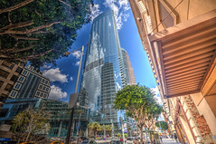 The Glass Tower (Michael F. Nyiri) Tags: downtownlosangeles wilshiregrand clouds reflections california southerncalifornia