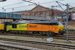 67023 'Stella' Colas Rail Freight Doncaster 06.04.18 (Paul David Smith (Widnes Road)) Tags: 67023 stella colas rail freight doncaster 060418