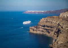 Santorini Greece (Daveyal_photostream) Tags: santorini greese nikon nikor nature ocean water waterscape mountains coast coastline blue d600 meandmygear mygearandme mycamerabag motion movement travel vacation norwegianspirit sea sky cliff bay mountain rock landscape cruiseship cruining cruise awesome amazing ships boats mountainside steephills norwegiancruiseline oia thira greekislands mediterranean deepbluesea