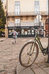 Have a great weekend! (ninasclicks) Tags: bicycle bike paris street travel bokeh dof travelphotography streetphotography cobblestone