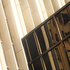 cutting edge (msdonnalee) Tags: architecturaldetail reflection reflexion reflisse refleccione reflexão refleccion reflejo windowreflection window reflet diagonal square squareformat sepia janela ventana fenster finestra fenetre