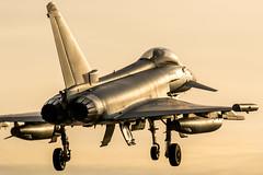 Royal Air Force (RAF); Reg: ZK325 Eurofighter Typhoon FGR.4 (richardbryant286) Tags: landing fighter fastjet april2018 spring sunset coningsby raf typhoon eurofighter zk325
