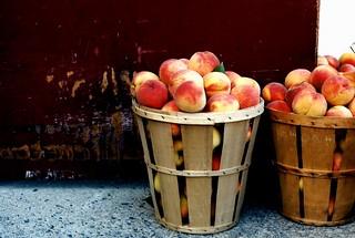 Peaches for sale, Carlisle, Pennsylvania. 1997.
