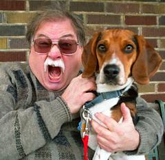 FUJI400S014A (Grudnick) Tags: benny grudnick crazyperson dog cutedog fuji film slr nikon fm negative