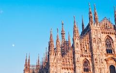Milan, 2018 (gregorywass) Tags: milan cathedral duomo italy church spire sky moon february 2018 milano