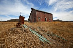 Rustic Illinois Barn (Steve O'Day) Tags: barn red illinois rural canon photography march winter countryside decay
