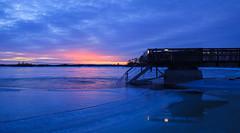 Icy pool (Antti Tassberg) Tags: lauttasaari 24mmts landscape auringonlasku jää talvi laituri avanto helsinki suomi 24mm aurinko finland ice laru lens mole prime scandinavia sun sundown sunset tiltshift winter
